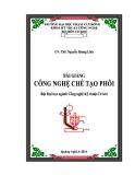 Bài giảng Công nghệ chế tạo phôi - ĐH Phạm Văn Đồng