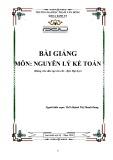 Bài giảng Nguyên lý kế toán - ĐH Phạm Văn Đồng