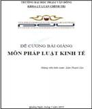 Bài giảng Pháp luật kinh tế - ĐH Phạm Văn Đồng