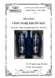 Bài giảng Công nghệ khuôn mẫu - ĐH Phạm Văn Đồng