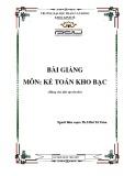 Bài giảng Kế toán kho bạc - ĐH Phạm Văn Đồng