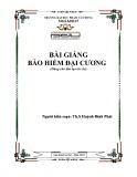 Bài giảng Bảo hiểm đại cương - ĐH Phạm Văn Đồng