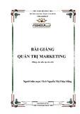 Bài giảng Quản trị marketing - ĐH Phạm Văn Đồng