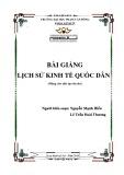 Bài giảng Lịch sử kinh tế quốc dân - ĐH Phạm Văn Đồng