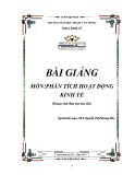 Bài giảng Phân tích hoạt động kinh tế - ĐH Phạm Văn Đồng