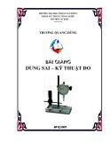 Bài giảng Dung sai kỹ thuật đo - ĐH Phạm Văn Đồng