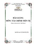 Bài giảng Tài chính tiền tệ - ĐH Phạm Văn Đồng