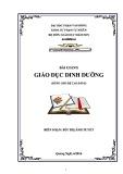 Bài giảng Giáo dục dinh dưỡng - ĐH Phạm Văn Đồng