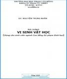 Bài giảng Vi sinh vật học - ĐH Phạm Văn Đồng