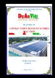Lập Dự án đầu tư Lắp đặt thiết bị sản xuất điện mặt trời