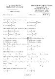 Đề kiểm tra 1 tiết bài số 1 môn ĐạisốvàGiảitích lớp11 năm 2017-2018 - THPT Ngô Gia Tự - Mã đề 011