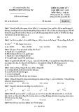 Đề kiểm tra HK 1 môn Vật lý lớp 12 năm 2017-2018 - THPT Ngô Gia Tự - Mã đề 023