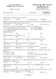 Đề kiểm tra 1 tiết bài số 1 môn Hóa học lớp10 năm 2017-2018 - THPT Ngô Gia Tự - Mã đề 021