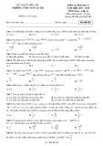 Đề kiểm tra 1 tiết môn Hình học lớp 12 năm 2017-2018 - THPT Ngô Gia Tự - Mã đề 020