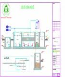 Bản vẽ Hệ thống xử lý nước thải nhà hàng