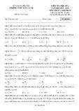 Đề kiểm tra HK 2 môn Vật lí lớp 10 năm 2017-2018 - THPT Ngô Gia Tự - Mã đề 004