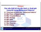 Bài giảng Các mẫu thiết kế hướng đối tượng: Chương 8 - TS. Nguyễn Văn Hiệp