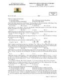 Đề thi khảo sát chất lượng đầu năm lớp 11 năm học 2017-2018 môn Vật Lí trường THPT Thuận Thành 1