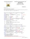 Đề thi khảo sát chất lượng đầu năm lớp 11 năm học 2017-2018 môn Hóa trường THPT Thuận Thành 1