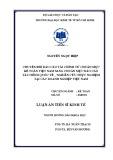 Luận án Tiến sĩ Kinh tế: Chuyển đổi báo cáo tài chính từ chuẩn mực kế toán Việt Nam sang chuẩn mực báo cáo tài chính quốc tế (Nghiên cứu thực nghiệm tại các doanh nghiệp Việt Nam)