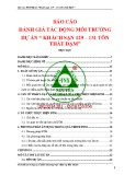 Báo cáo ĐTM Dự án Khách sạn 129 - 131 Tôn Thất Đạm