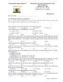 Đề thi khảo sát chât lượng đầu năm lớp 12 năm học 2017-2018 môn Hóa trường THPT Thuận Thành 1