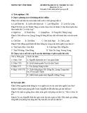 Đề thi học kì 2 môn Lịch Sử lớp 7 năm 2017-2018 có đáp án  - Trường THCS Vĩnh Thịnh