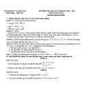 Đề kiểm tra học kì I lớp 11 năm 2011–2012 môn Toán - Sở GD & ĐT Tỉnh Bà Rịa Vũng Tàu