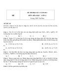 Đề thi HK 2 môn Hóa học lớp 12 năm 2012 - Trường THPT Đa Phúc - Mã đề 181