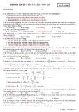 Đề kiểm tra học kì 1 lớp 12 môn Vật lý nâng cao - Mã đề 580