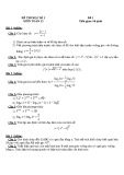 Đề thi học kì 1 lớp 12 môn Toán (Đề 3)