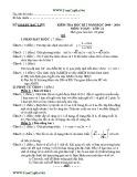 Đề kiểm tra học kì I lớp 11 năm 2009-2010 môn Toán - Sở GD&ĐT Bạc Liêu