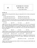Đề thi HK 2 môn Hóa học lớp 12 năm 2013 - Trường THPT Đa Phúc - Mã đề 148