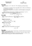 Đề thi học kì 1 lớp 12 môn Toán (Đề 4)