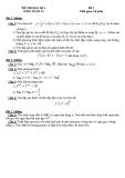 Đề thi học kì 1 lớp 12 môn Toán (Đề 5)