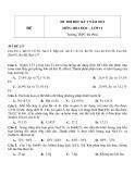 Đề thi HK 2 môn Hóa học lớp 12 năm 2012 - Trường THPT Đa Phúc - Mã đề 215