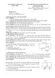 Đề kiểm tra học kì I lớp 11 năm 2012-2013 môn Vật lý - Sở GD & DT Đồng Tháp