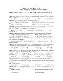 Đề kiểm tra HK 2 môn Vật lý lớp 12 - Mã đề 1