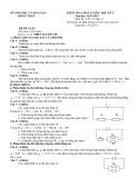 Đề kiểm tra HK 1 môn Vật lý lớp 11 năm 2012 - THPT Nguyễn Du