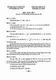 Đề thi học kì 2 lớp 9 môn Toán  năm 2018 có đáp án - Sở GD&ĐT Đà Nẵng