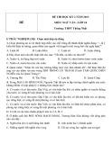 Đề thi HK 2 môn Ngữ văn lớp 10 năm 2013 - THPT Thống Nhất