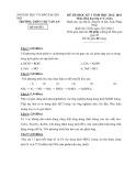 Đề thi HK 1 môn Hóa học lớp 11 năm 2012 - THPT Chu Văn An - Mã đề 1
