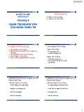 Bài giảng Quản trị ngân hàng thương mại: Chương 4 - Đại học Văn Hiến