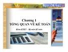 Bài giảng Nguyên lý kế toán: Chương 1 - Đại học Ngân hàng