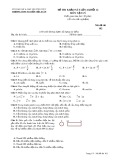 Đề thi khảo sát môn Vật lí lớp 12 năm 2017-2018 lần 4 - THPT Nguyễn Viết Xuân - Mã đề 102