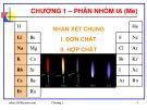 Bài giảng Hóa học vô cơ: Chương 1 - GV. Nguyễn Văn Hòa