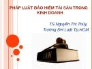 Bài giảng Pháp luật bảo hiểm tài sản trong kinh doanh: Chương 1 - TS.Nguyễn Thị Thủy