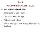 Bài giảng Hóa phân tích: Bài 4 - ThS. Nguyễn Văn Hòa
