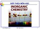 Bài giảng Hóa học vô cơ: Chương Giới thiệu - GV. Nguyễn Văn Hòa