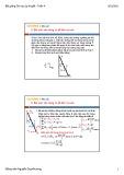 Bài giảng Cơ học lý thuyết: Tuần 4 - Nguyễn Duy Khương